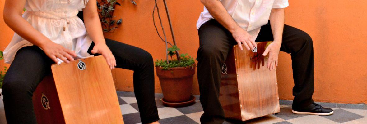 Instrumentos de percusión tradicional