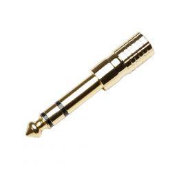Adaptador 7543 G Minijack a Jack dorado