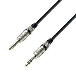 Adam Hall K4BVV0600 Cable de audio Jack estéreo a Jack estéreo de 6 m.
