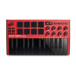 Akai Professional MPK Mini MK3 Red Teclado controlador MIDI de 25 notas