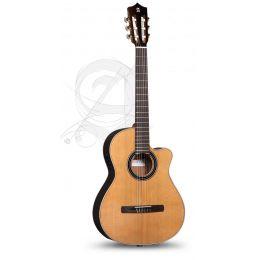 Alhambra CS-LR CW E1 + funda acolchada 25 mm Guitarra clásica crossover + Funda 9738