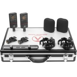 Austrian Audio OC18 Dual Set Plus Set con 2 micrófonos de condensador de gran diafragma