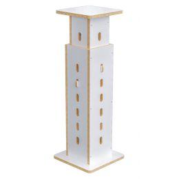 Buso Audio Speaker Stand White-Birch Soporte para altavoz con altura regulable