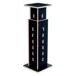 Buso Audio Speaker Stand Black-Birch Soporte para altavoz con altura regulable