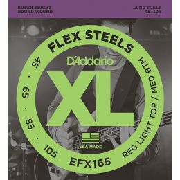 D'Addario EFX165 FlexSteels Custom Light Long Scale [45-105]