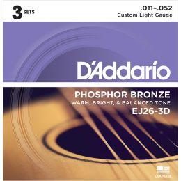 D'Addario EJ26 3D (pack 3 juegos)