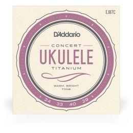 D'Addario EJ87C Titanium Ukulele Concert Cuerdas para Ukelele Concierto