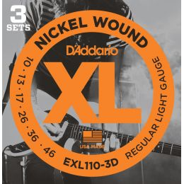 D'Addario EXL110 XL Regular Light (pack 3 juegos)