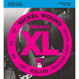 D'Addario EXL170 Nickel Wound Bass, Light, Long Scale [45-100]
