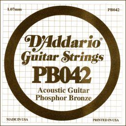 D'Addario PB042 Cuerda suelta entorchada para guitarra acústica 042