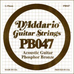 D'Addario PB047 Cuerda suelta entorchada para guitarra acústica 047