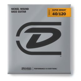 Dunlop Níquel Super Bright 40-120 Juego de 5 cuerdas para bajo eléctrico