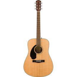 Fender CD60S LH Natural Guitarra acústica tipo dreadnought para zurdos