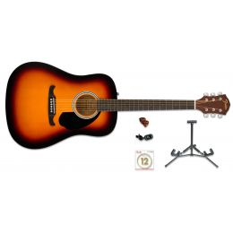 Fender FA125 Pack Sunburst  Pack de guitarra acústica y accesorios