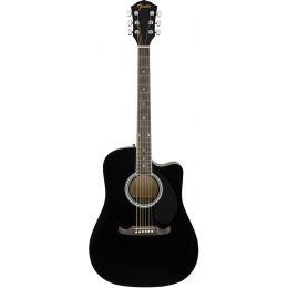 Fender FA125CE WN Dreadnought Black  Guitarra electroacústica tipo dreadnought
