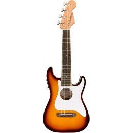 Fender Fullerton Strat Uke Sunburst Ukelele Concierto eléctrico