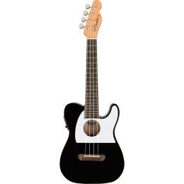 Fender Fullerton Tele Uke Black Ukelele Concierto eléctrico
