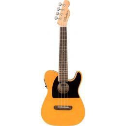 Fender Fullerton Tele Uke Butterscotch Blonde Ukelele Concierto eléctrico