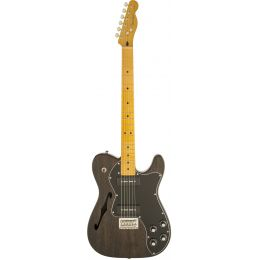 Fender Modern Player Telecaster MN Thinline Deluxe Black Transparent