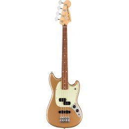 Fender Player Mustang Bass PJ, Pau Ferro Fingerboard, Firemist Gold
