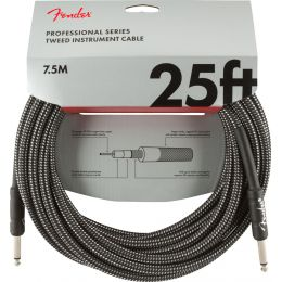 Fender Professional Series Instrument Cable 25' Gray Tweed Cable para guitarra
