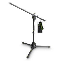 Gravity MS 4221 B Pie de micrófono corto con trípode y brazo jirafa
