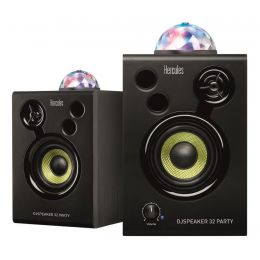 Hercules DJ DJMonitor 32 Party Altavoces autoamplificados con sistema de luces LED (pareja)
