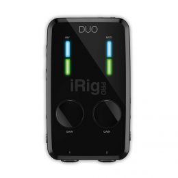 IK Multimedia iRIG PRO DUO Interfaz de audio para iPhone, iPad, Android, Mac/PC