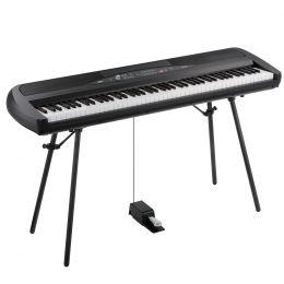 Korg SP 280 BK negro Piano con teclas contrapesadas