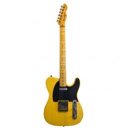 Maybach Guitars Teleman T54 Butterscotch Blackguard Aged