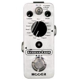 Mooer Groove Loop Pedal con caja de ritmos y looper
