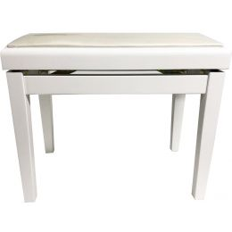 Ringway PB007 Banqueta regulable para piano blanco mate