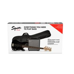 Squier Affinity Series Precision Bass PJ Pack LF Black
