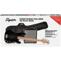 Squier Affinity Series Precision Bass PJ Pack MN Black Pack bajo eléctrico