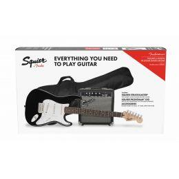 Squier Stratocaster Pack Black Pack de guitarra eléctrica